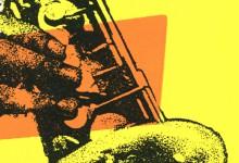 Saxophon Siebdrucke