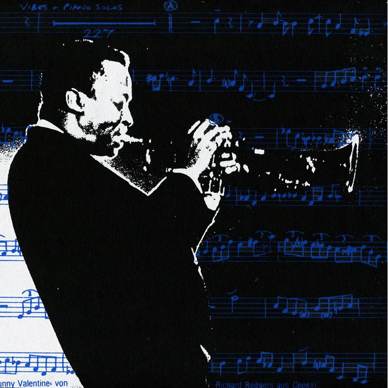 Miles Davis Siebdruck schwarze Serie