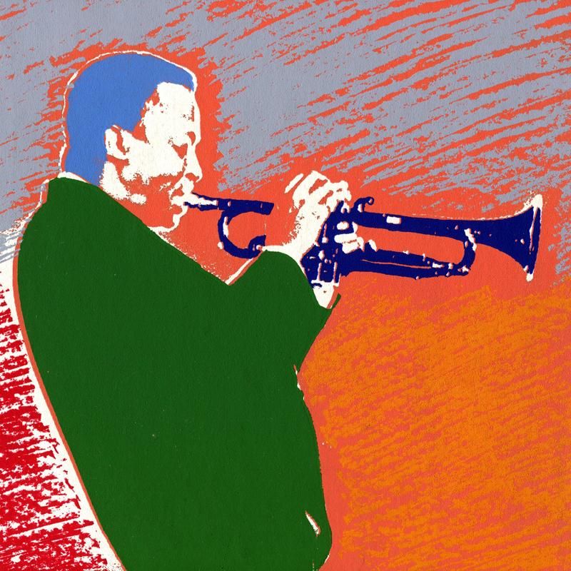 Miles Davis Siebdruck weisse Serie