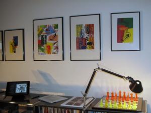 Saxophon Siebdruck Serien